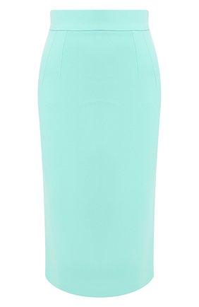 Женская юбка-карандаш DOLCE & GABBANA бирюзового цвета, арт. F4BMQT/FURDV | Фото 1
