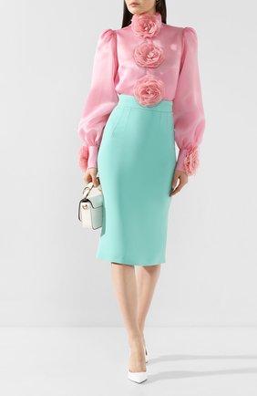 Женская юбка-карандаш DOLCE & GABBANA бирюзового цвета, арт. F4BMQT/FURDV | Фото 2