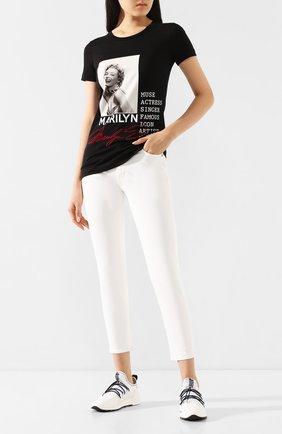 Женская хлопковая футболка DOLCE & GABBANA черного цвета, арт. F8H32Z/G7VZD | Фото 2
