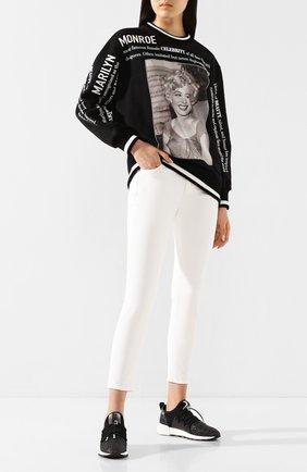 Женская хлопковый свитшот DOLCE & GABBANA черного цвета, арт. F9C85Z/G7VZE | Фото 2
