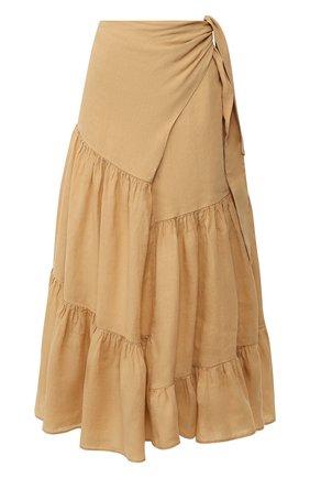 Женская льняная юбка NUDE бежевого цвета, арт. 1103743/SKIRT | Фото 1