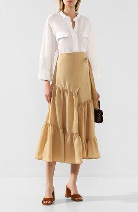 Женская льняная юбка NUDE бежевого цвета, арт. 1103743/SKIRT | Фото 2