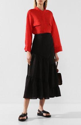 Женская льняная рубашка NUDE красного цвета, арт. 1103744/SHIRT | Фото 2