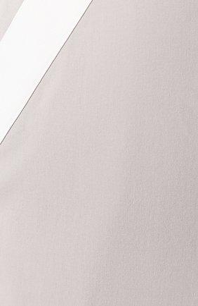 Женская хлопковая юбка LORENA ANTONIAZZI серого цвета, арт. P2033G0006/3184 | Фото 5 (Женское Кросс-КТ: Юбка-карандаш; Материал внешний: Хлопок; Длина Ж (юбки, платья, шорты): Миди)