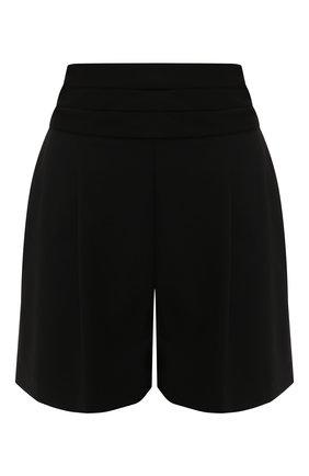 Женские шерстяные шорты DIANE VON FURSTENBERG черного цвета, арт. 13727DVF | Фото 1