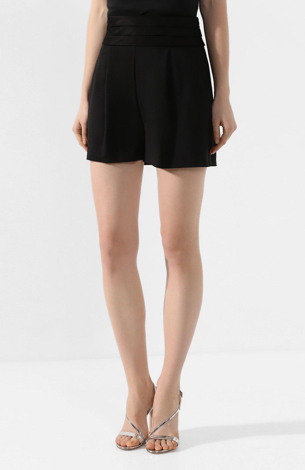Женские шерстяные шорты DIANE VON FURSTENBERG черного цвета, арт. 13727DVF | Фото 3