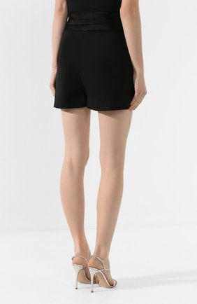 Женские шерстяные шорты DIANE VON FURSTENBERG черного цвета, арт. 13727DVF | Фото 4