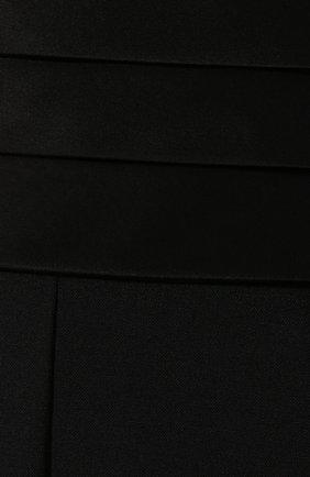 Женские шерстяные шорты DIANE VON FURSTENBERG черного цвета, арт. 13727DVF | Фото 5