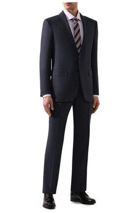 Мужская хлопковая сорочка BRIONI сиреневого цвета, арт. RCL810/P907L | Фото 2
