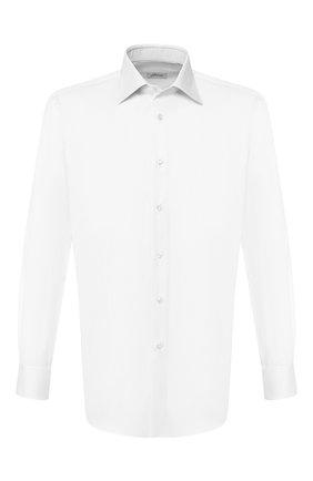Мужская хлопковая сорочка BRIONI белого цвета, арт. RCLU3K/PZ003   Фото 1
