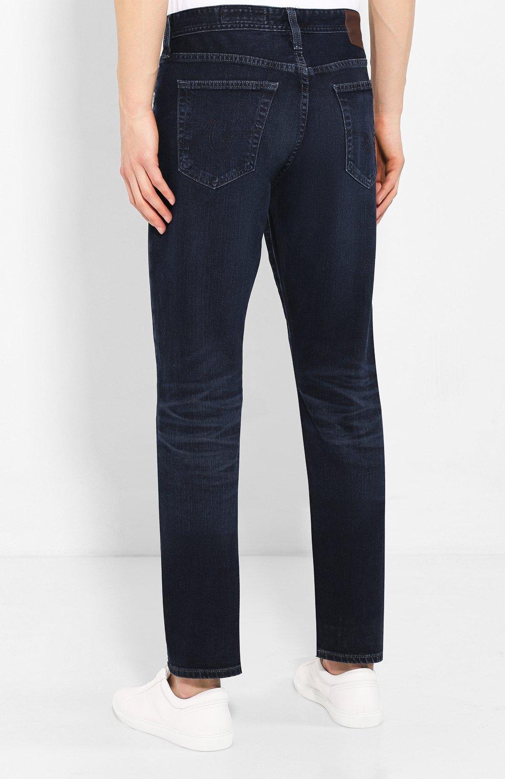 Мужские джинсы AG темно-синего цвета, арт. 1794LED/04YCAS   Фото 4
