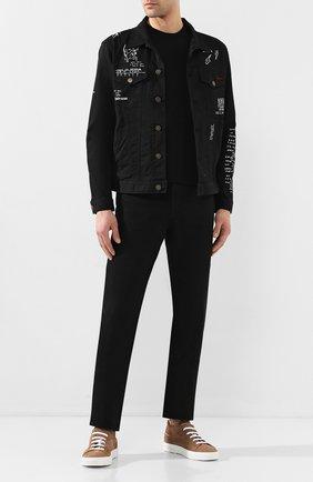 Мужская футболка из вискозы EMPORIO ARMANI черного цвета, арт. 8N1M8A/1JCDZ   Фото 2
