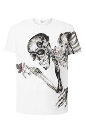 Мужская хлопковая футболка ALEXANDER MCQUEEN белого цвета, арт. 609587/Q0ZA8 | Фото 1