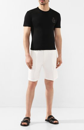 Мужская хлопковая футболка DOLCE & GABBANA черного цвета, арт. G8KBAZ/G7VKV   Фото 2