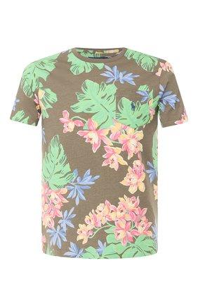 Мужская хлопковая футболка POLO RALPH LAUREN зеленого цвета, арт. 710788944 | Фото 1