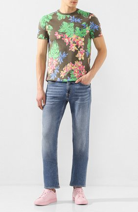 Мужская хлопковая футболка POLO RALPH LAUREN зеленого цвета, арт. 710788944 | Фото 2
