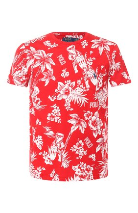 Мужская хлопковая футболка POLO RALPH LAUREN красного цвета, арт. 710788945 | Фото 1