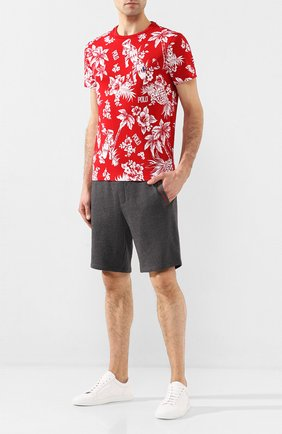 Мужская хлопковая футболка POLO RALPH LAUREN красного цвета, арт. 710788945 | Фото 2