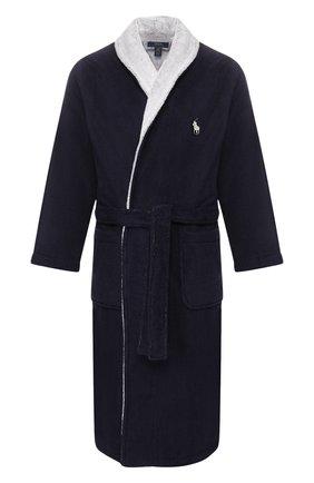 Мужской хлопковый халат RALPH LAUREN темно-синего цвета, арт. 714784459 | Фото 1