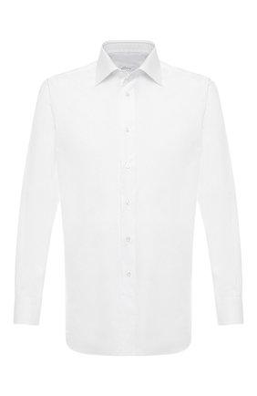 Мужская хлопковая сорочка BRIONI белого цвета, арт. RCLU1R/P90B4 | Фото 1