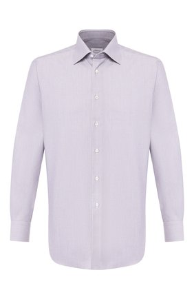 Мужская хлопковая сорочка BRIONI сиреневого цвета, арт. RCLU1Z/P905E | Фото 1