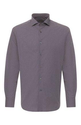 Мужская хлопковая сорочка CORNELIANI темно-синего цвета, арт. 85P102-0111905/00 | Фото 1