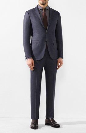 Мужская хлопковая сорочка CORNELIANI темно-синего цвета, арт. 85P102-0111905/00 | Фото 2