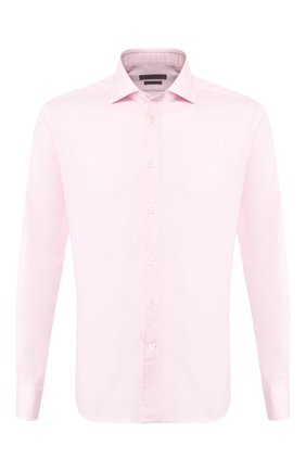 Мужская хлопковая сорочка CORNELIANI розового цвета, арт. 85P100-0111408/00 | Фото 1