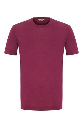 Мужская хлопковая футболка CORNELIANI малинового цвета, арт. 85M517-0125120/00   Фото 1