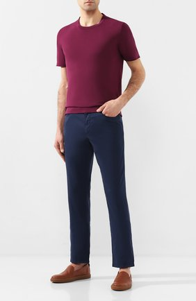 Мужская хлопковая футболка CORNELIANI малинового цвета, арт. 85M517-0125120/00   Фото 2