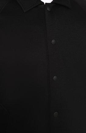 Мужской бомбер ZEGNA COUTURE черного цвета, арт. CUCJ01/7UJ60   Фото 5 (Кросс-КТ: Куртка; Рукава: Длинные; Принт: Без принта; Материал внешний: Синтетический материал, Хлопок; Мужское Кросс-КТ: Верхняя одежда; Длина (верхняя одежда): Короткие; Стили: Кэжуэл)
