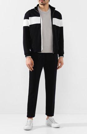 Мужская хлопковая футболка Z ZEGNA светло-серого цвета, арт. VU373/ZZ679   Фото 2
