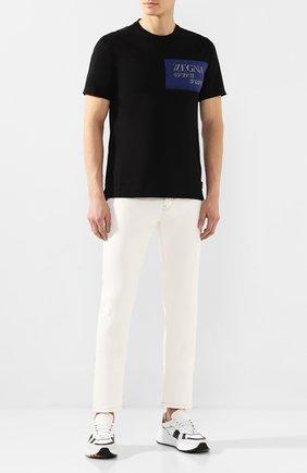 Мужские джинсы Z ZEGNA кремвого цвета, арт. VU743/ZZ530 | Фото 2