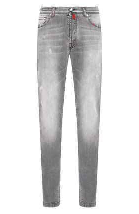 Мужские джинсы KITON серого цвета, арт. UPNJSM/J07S22 | Фото 1
