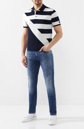 Мужские джинсы PAUL&SHARK синего цвета, арт. C0P4005   Фото 2