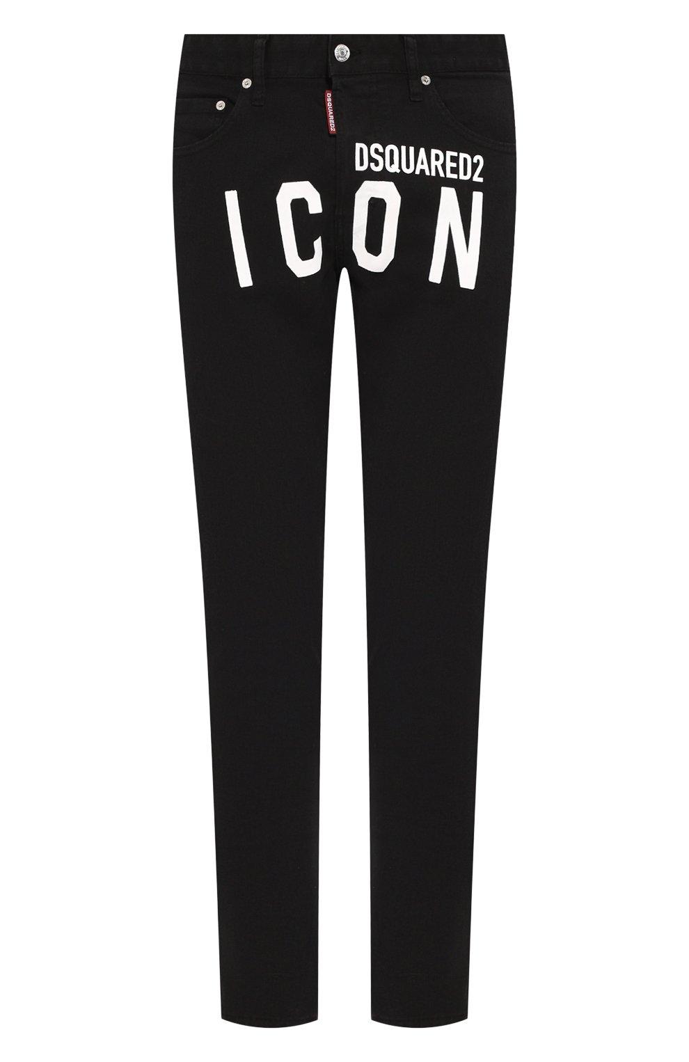 Мужские джинсы DSQUARED2 черного цвета, арт. S79LA0003/S39781 | Фото 1