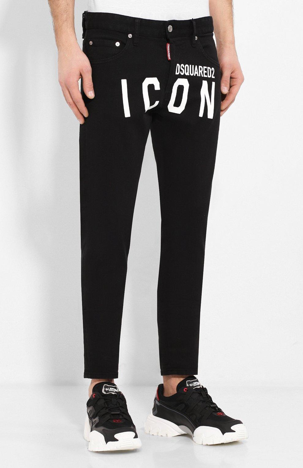 Мужские джинсы DSQUARED2 черного цвета, арт. S79LA0003/S39781 | Фото 3
