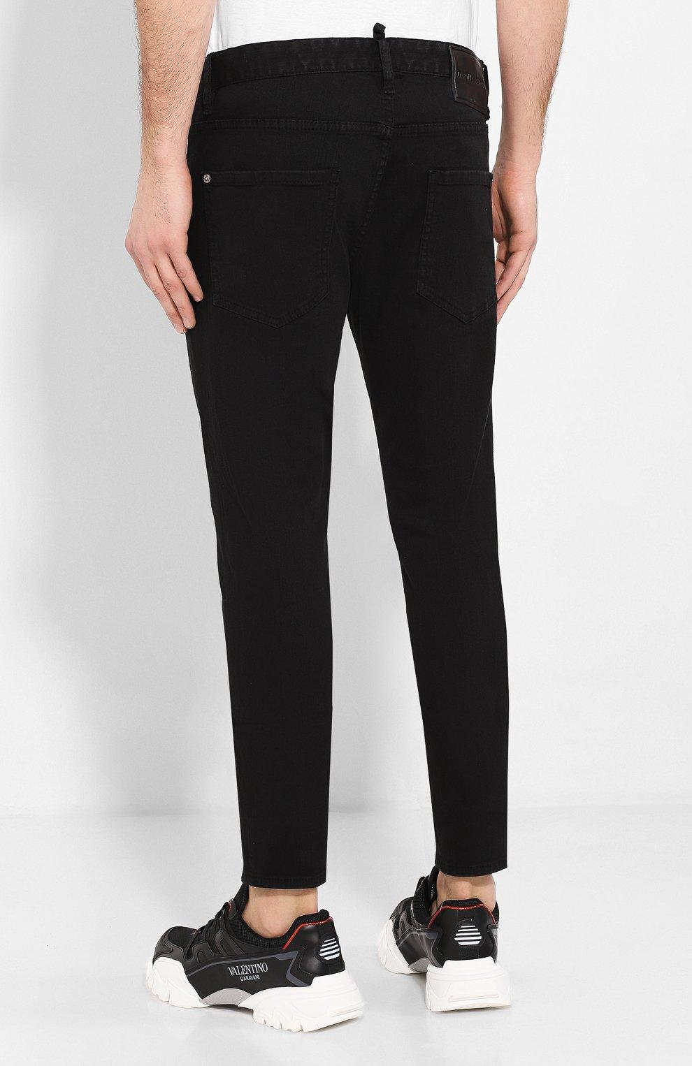 Мужские джинсы DSQUARED2 черного цвета, арт. S79LA0003/S39781 | Фото 4