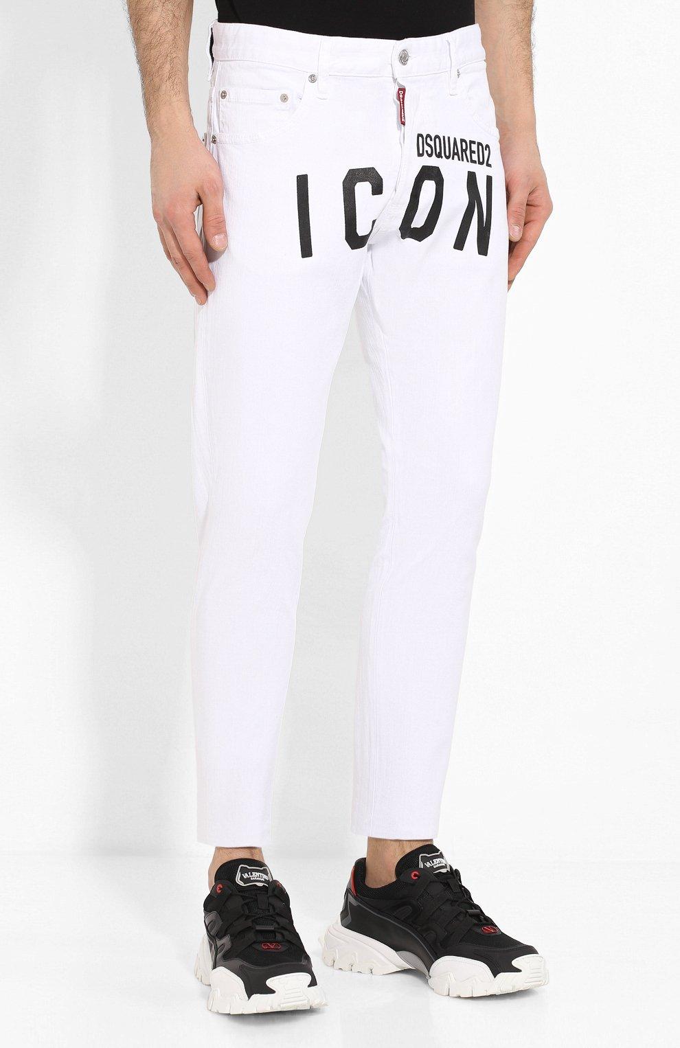 Мужские джинсы DSQUARED2 белого цвета, арт. S79LA0003/S39781 | Фото 3