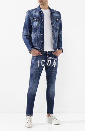 Мужские джинсы DSQUARED2 синего цвета, арт. S79LA0001/S30663 | Фото 2