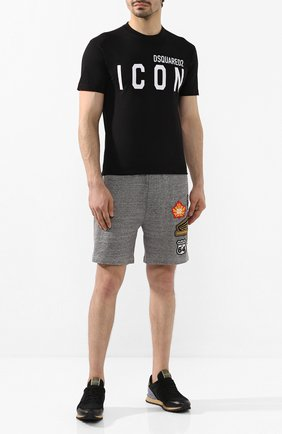 Мужская хлопковая футболка DSQUARED2 черного цвета, арт. S79GC0001/S23009 | Фото 2
