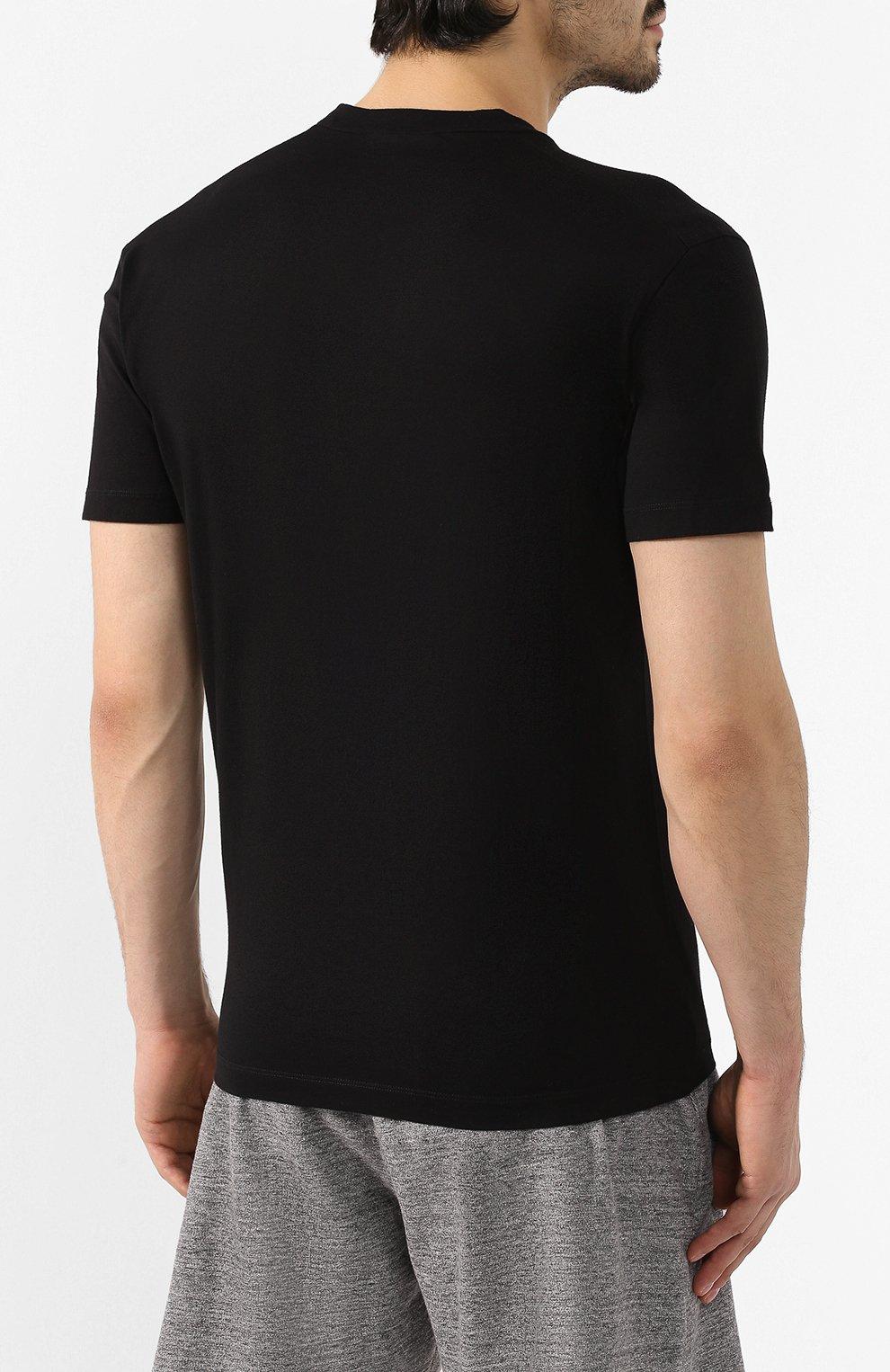 Мужская хлопковая футболка DSQUARED2 черного цвета, арт. S79GC0001/S23009 | Фото 4