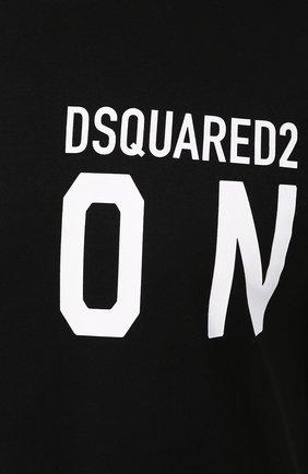 Мужская хлопковая футболка DSQUARED2 черного цвета, арт. S79GC0001/S23009 | Фото 5
