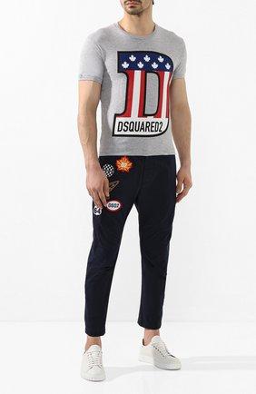 Мужская футболка из смеси хлопка и вискозы DSQUARED2 серого цвета, арт. S74GD0671/S22146 | Фото 2