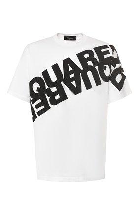 Мужская хлопковая футболка DSQUARED2 белого цвета, арт. S74GD0664/S22427 | Фото 1