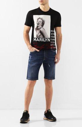 Мужская хлопковая футболка DOLCE & GABBANA черного цвета, арт. G8KBAZ/G7VQW   Фото 2