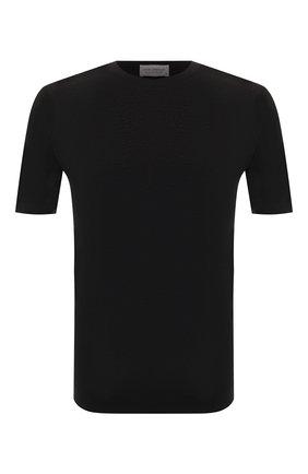 Мужской хлопковый джемпер JOHN SMEDLEY черного цвета, арт. PARK | Фото 1