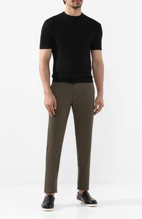 Мужской хлопковый джемпер JOHN SMEDLEY черного цвета, арт. PARK | Фото 2