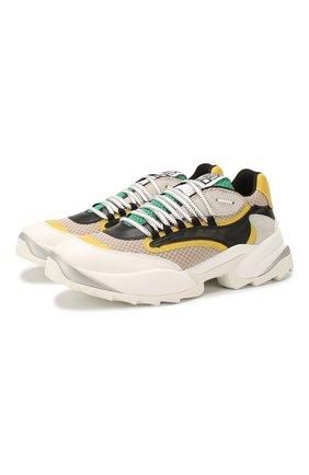 Мужские комбинированные кроссовки SERGIO ROSSI разноцветного цвета, арт. A87740-MFN946 | Фото 1