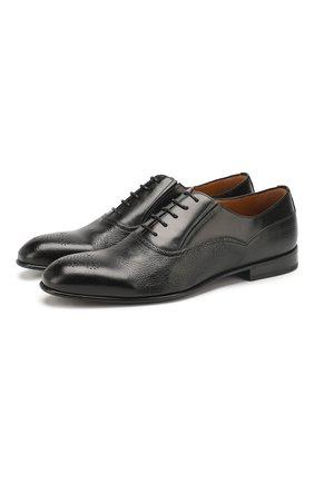 Мужские кожаные оксфорды BARRETT черного цвета, арт. 201U101.1/CERV0 | Фото 1 (Материал внутренний: Натуральная кожа; Статус проверки: Проверена категория; Мужское Кросс-КТ: Броги-обувь; Стили: Классический)